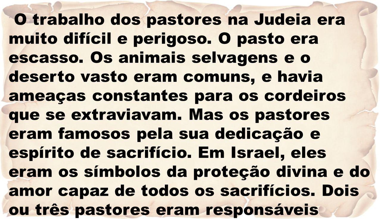 O trabalho dos pastores na Judeia era muito difícil e perigoso