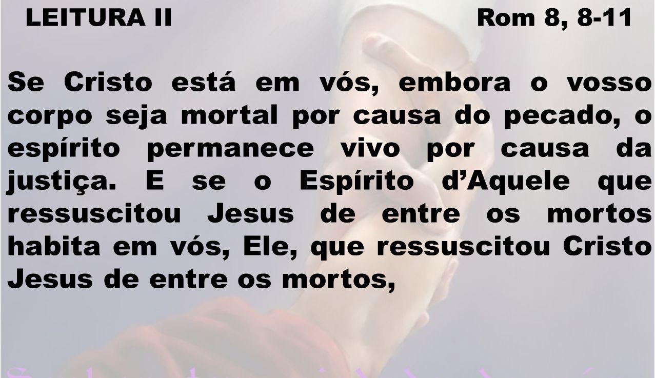 LEITURA II Rom 8, 8-11