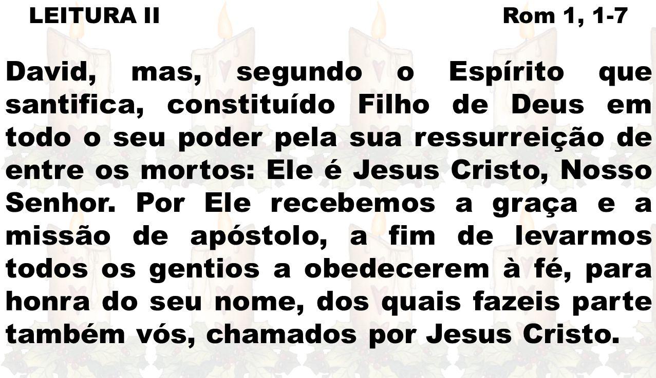LEITURA II Rom 1, 1-7