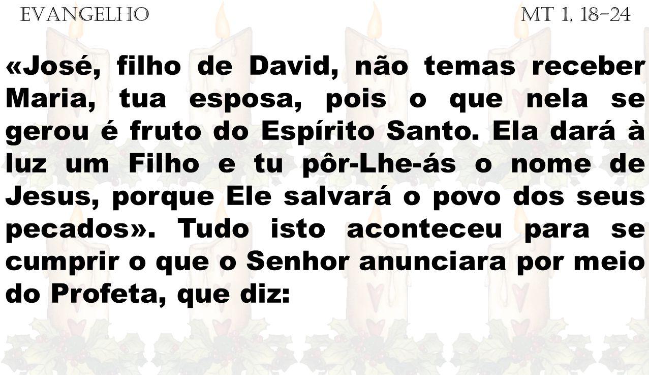 EVANGELHO Mt 1, 18-24