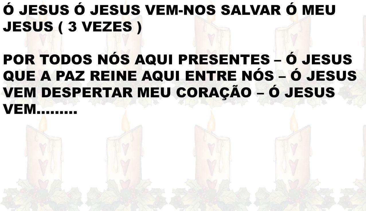 Ó JESUS Ó JESUS VEM-NOS SALVAR Ó MEU JESUS ( 3 VEZES )