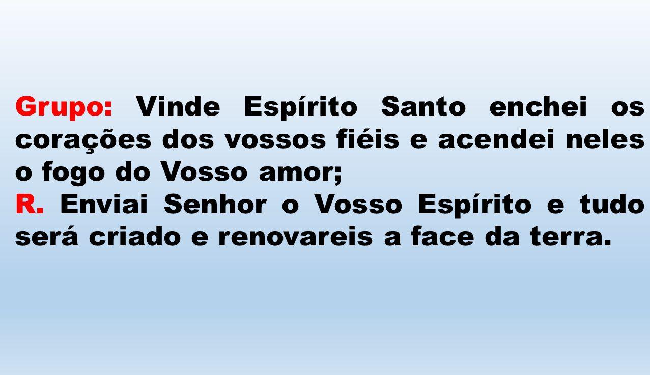 Grupo: Vinde Espírito Santo enchei os corações dos vossos fiéis e acendei neles o fogo do Vosso amor;