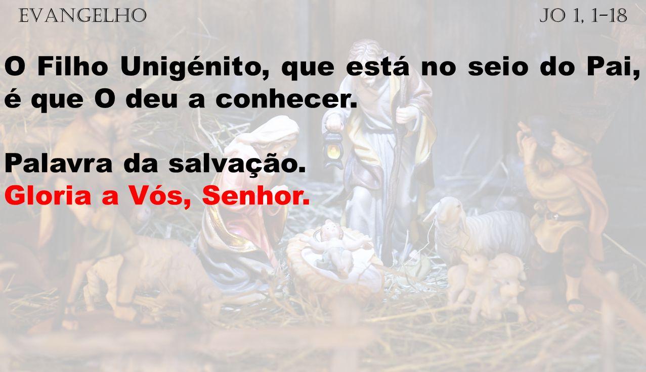 O Filho Unigénito, que está no seio do Pai, é que O deu a conhecer.