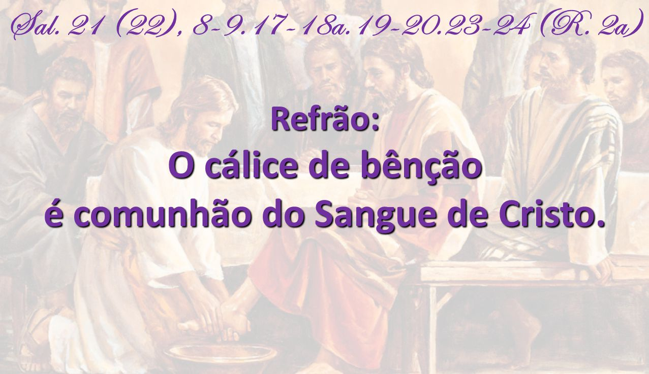é comunhão do Sangue de Cristo.