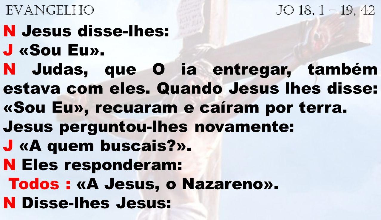 Jesus perguntou-lhes novamente: J «A quem buscais ».