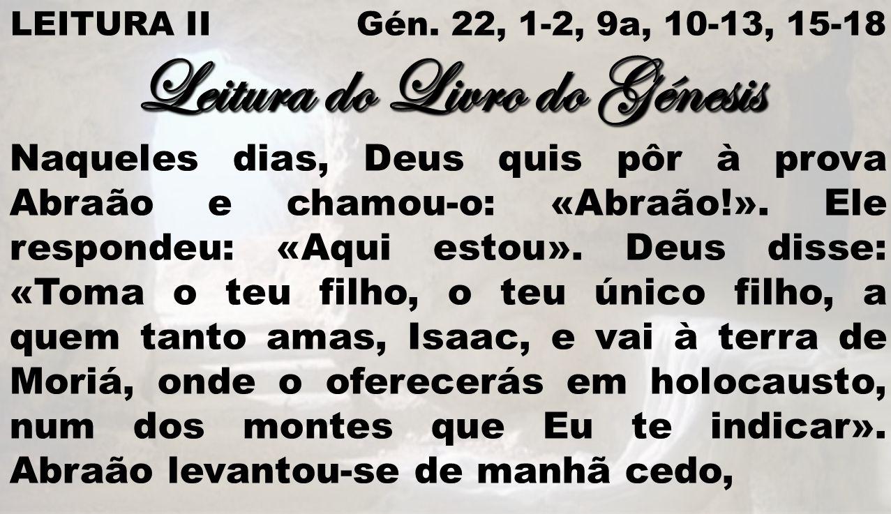 Leitura do Livro do Génesis