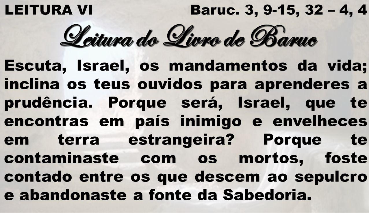 Leitura do Livro de Baruc