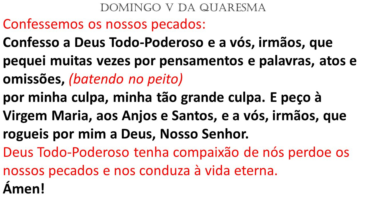 DOMINGO V DA QUARESMA