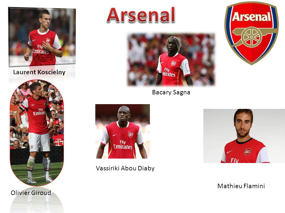 Arsenal Laurent Koscielny Bacary Sagna Vassiriki Abou Diaby