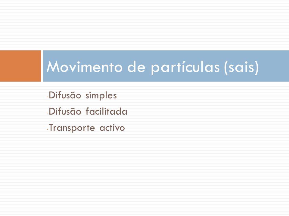 Movimento de partículas (sais)
