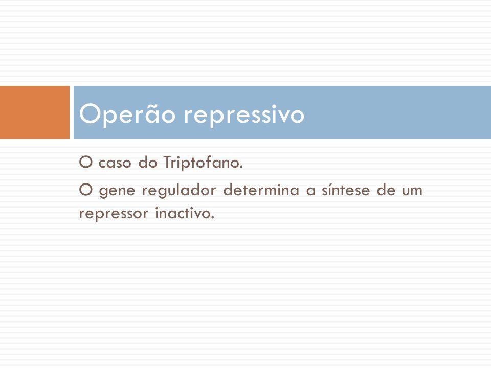 Operão repressivo O caso do Triptofano.