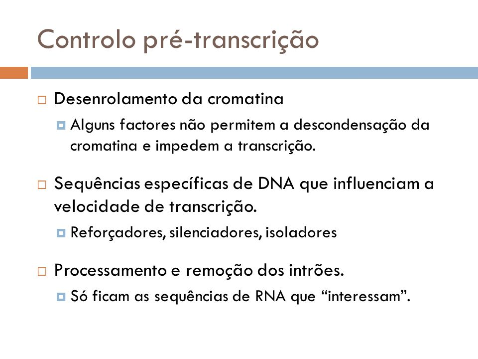 Controlo pré-transcrição