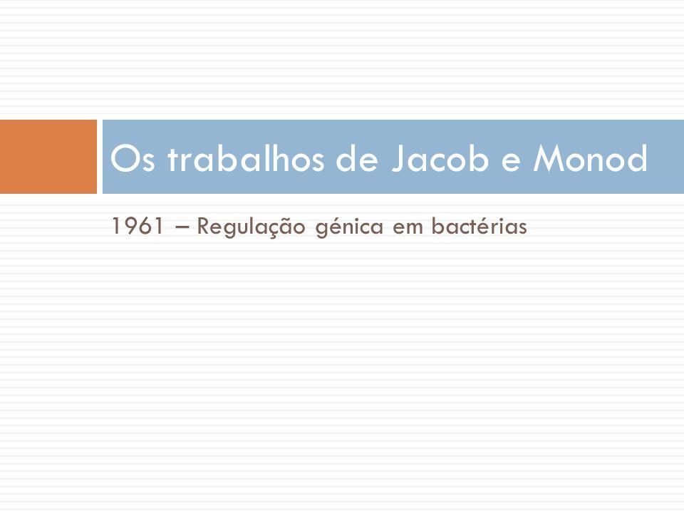 Os trabalhos de Jacob e Monod