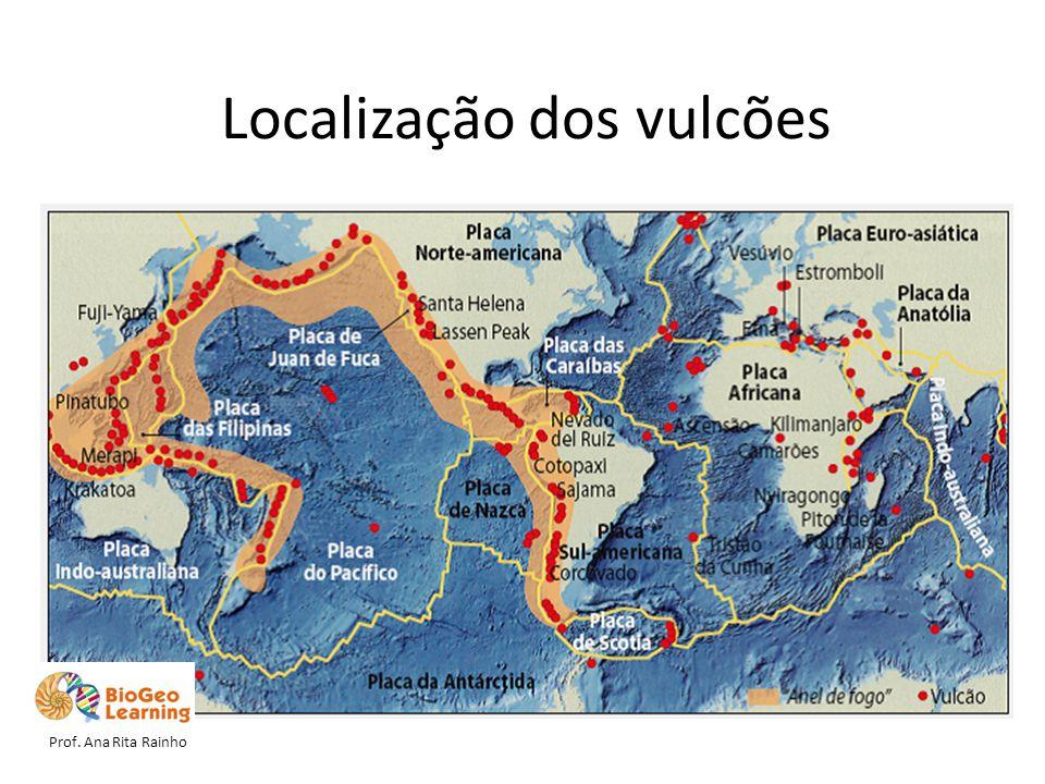 Localização dos vulcões