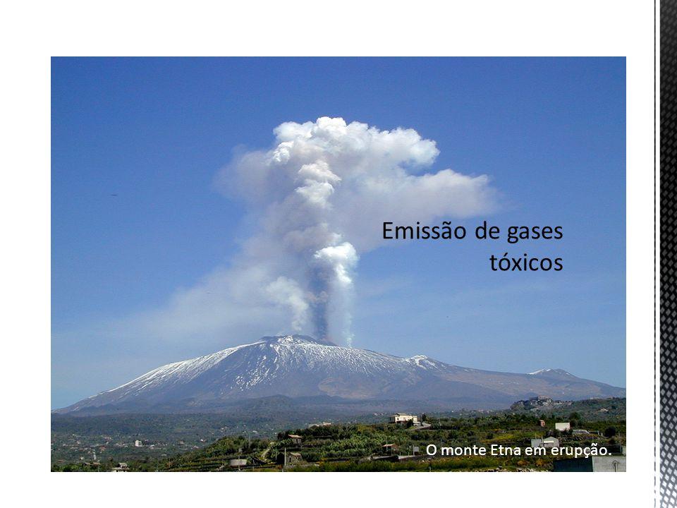 Emissão de gases tóxicos