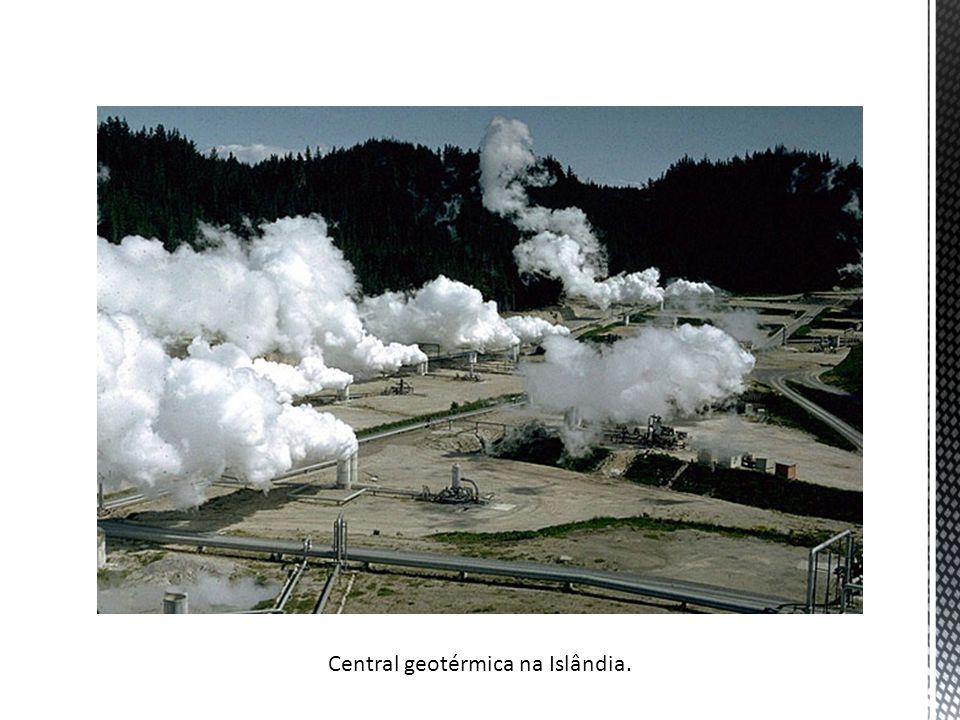 Central geotérmica na Islândia.