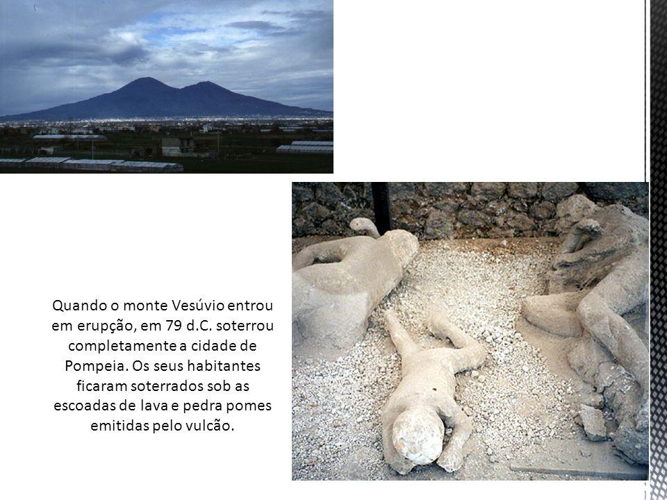 Quando o monte Vesúvio entrou em erupção, em 79 d. C