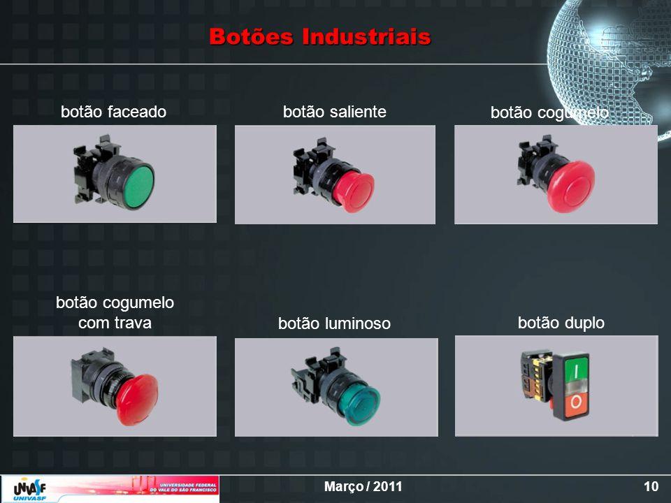 Botões Industriais botão faceado botão saliente botão cogumelo