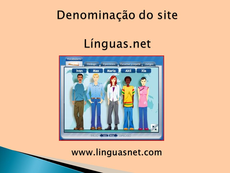Denominação do site Línguas.net