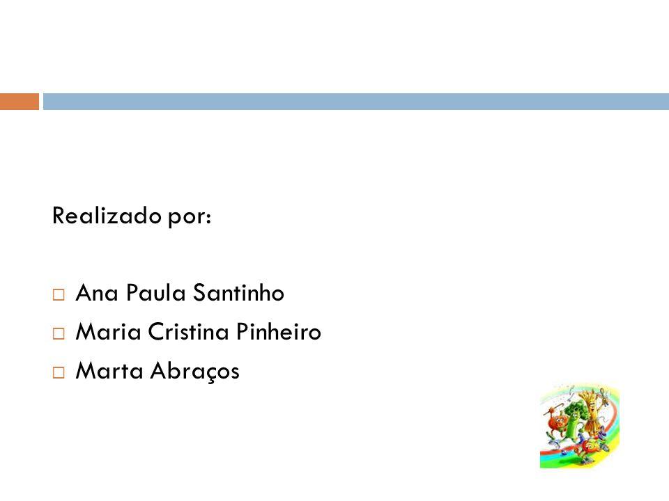 Realizado por: Ana Paula Santinho Maria Cristina Pinheiro Marta Abraços