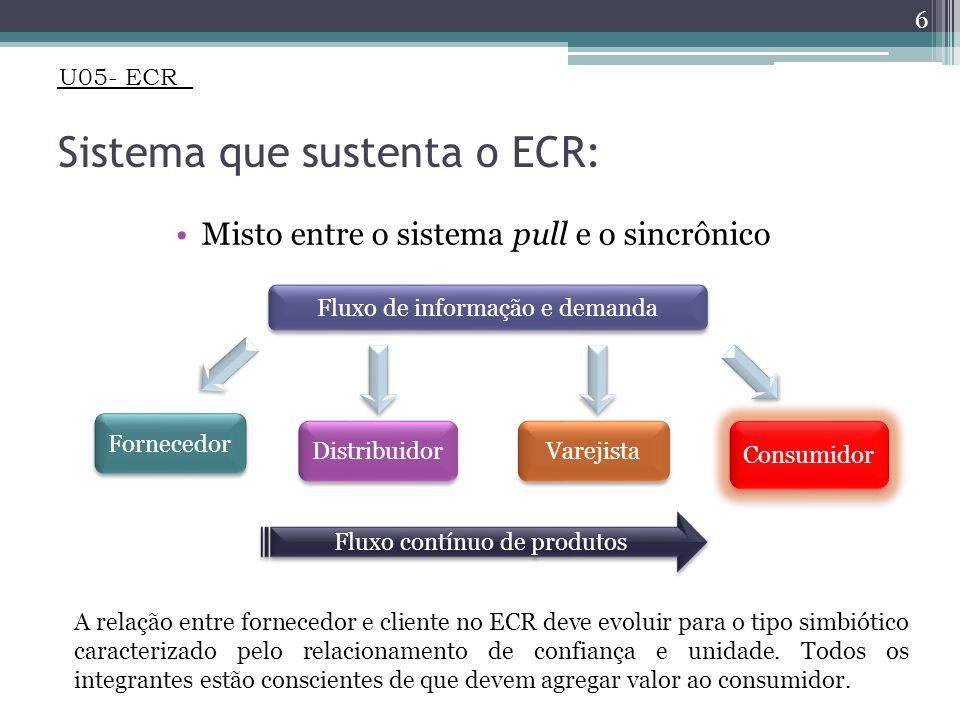 Sistema que sustenta o ECR: