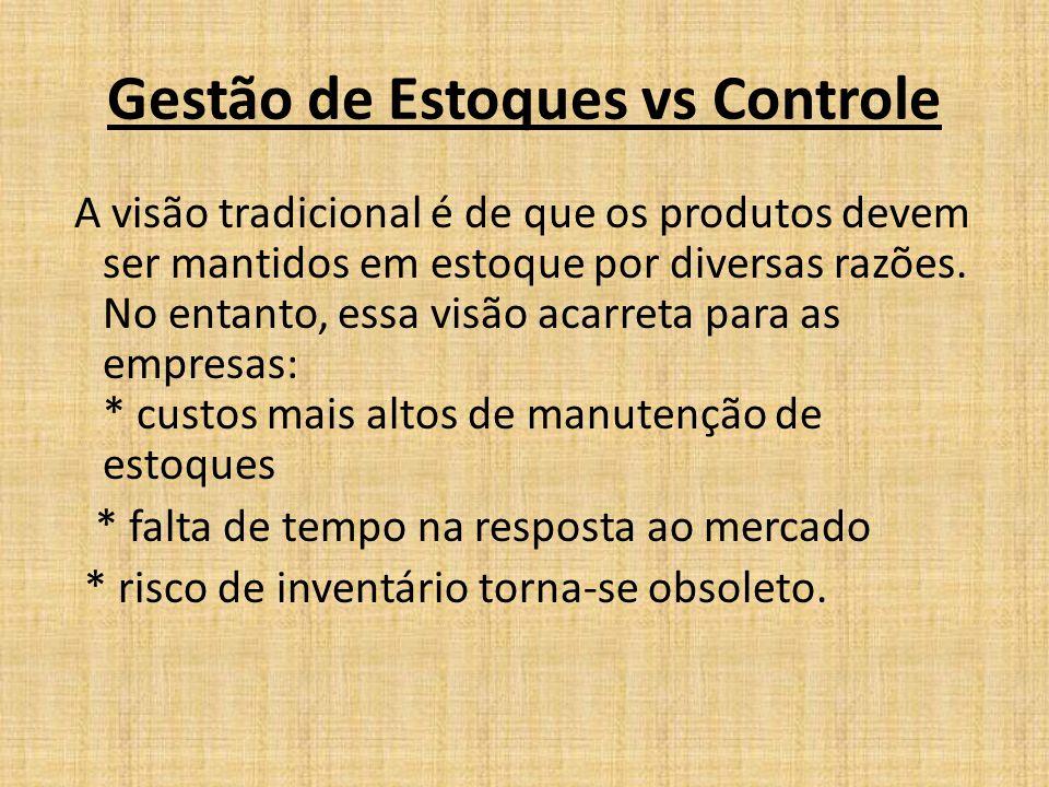 Gestão de Estoques vs Controle