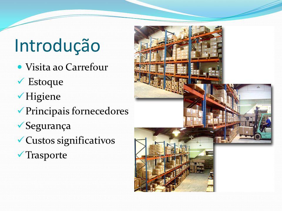 Introdução Visita ao Carrefour Estoque Higiene Principais fornecedores