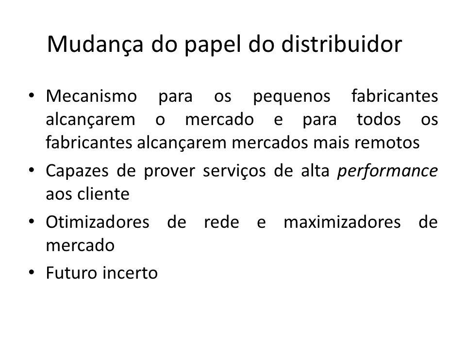 Mudança do papel do distribuidor