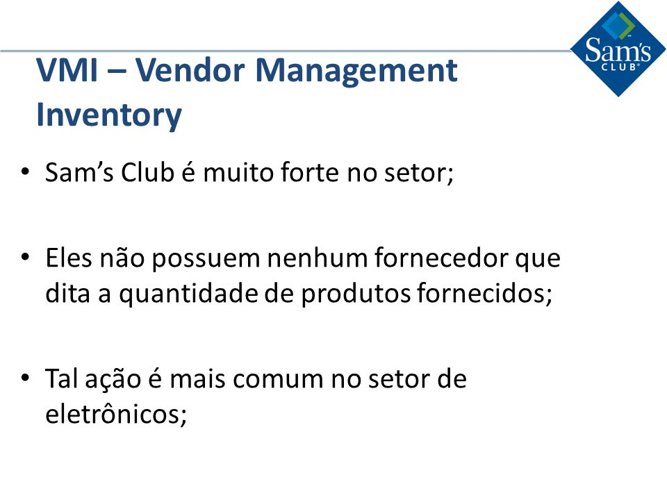 VMI – Vendor Management Inventory
