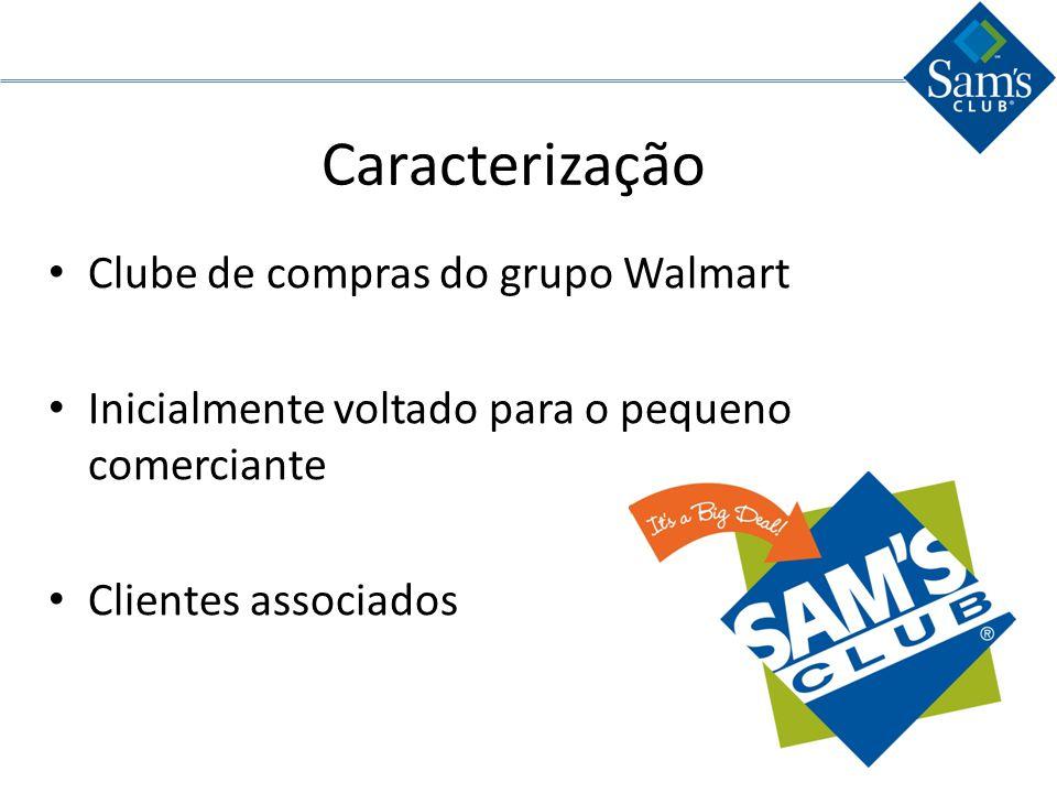 Caracterização Clube de compras do grupo Walmart
