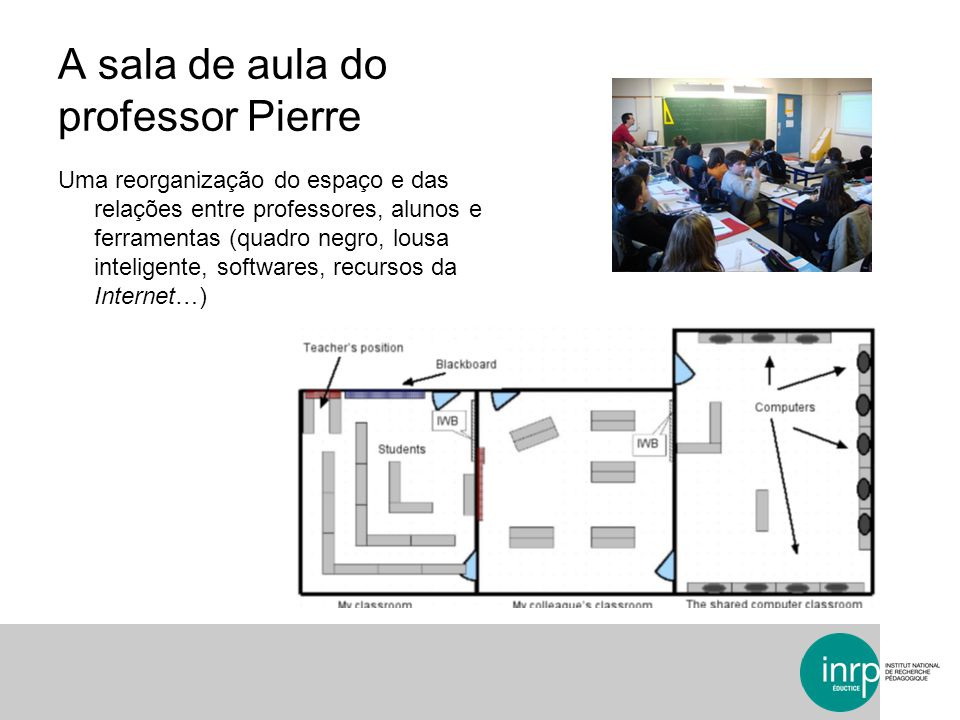 A sala de aula do professor Pierre
