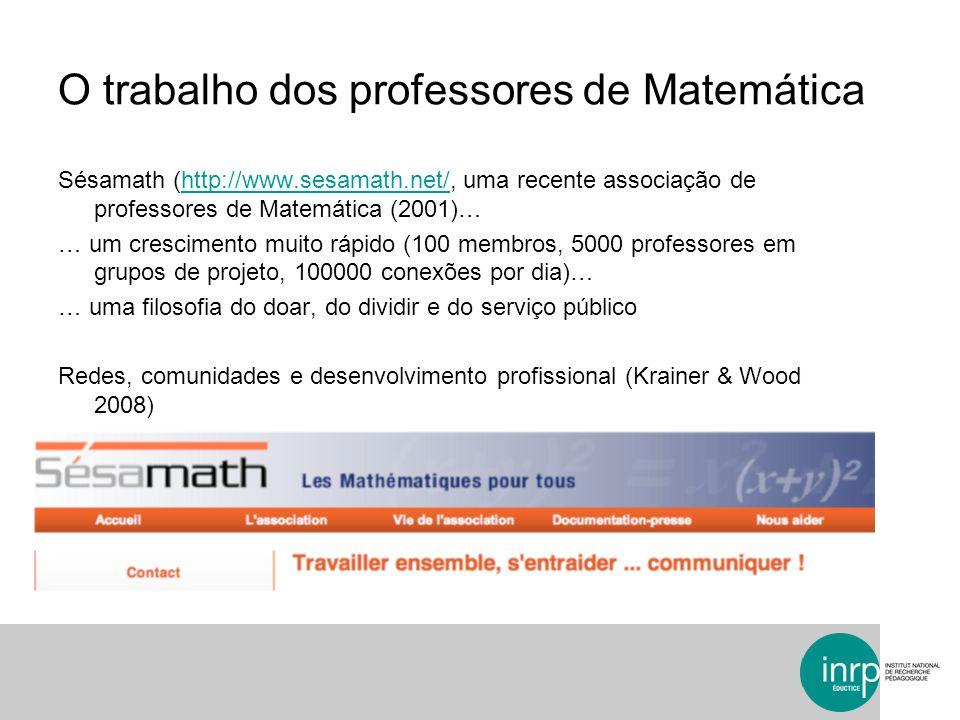 O trabalho dos professores de Matemática