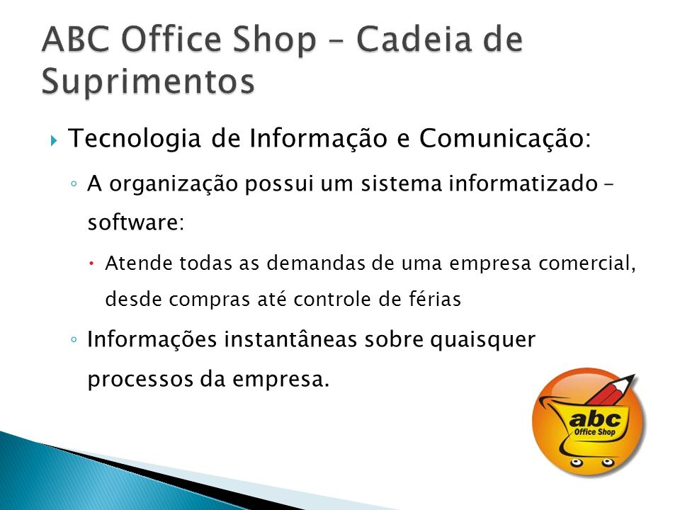 ABC Office Shop – Cadeia de Suprimentos
