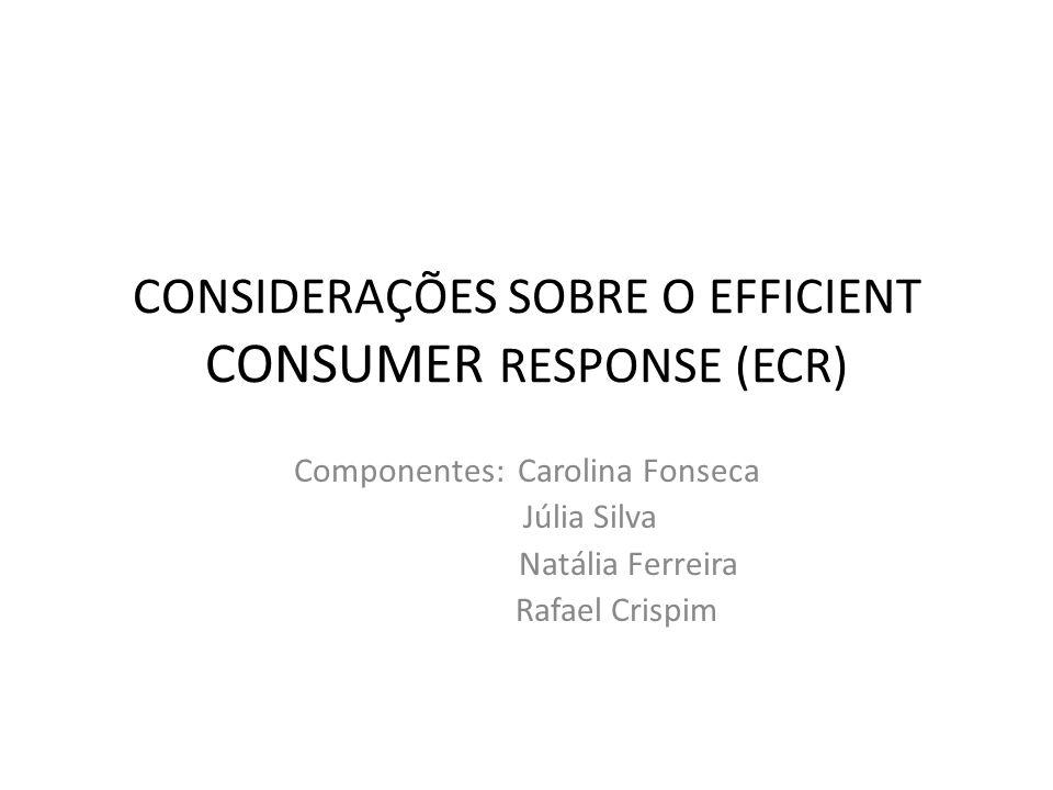CONSIDERAÇÕES SOBRE O EFFICIENT CONSUMER RESPONSE (ECR)