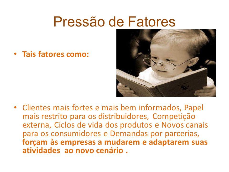 Pressão de Fatores Tais fatores como: