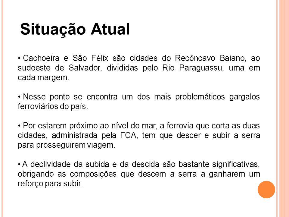 Situação Atual Cachoeira e São Félix são cidades do Recôncavo Baiano, ao sudoeste de Salvador, divididas pelo Rio Paraguassu, uma em cada margem.