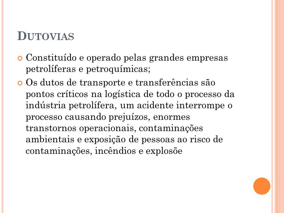 Dutovias Constituído e operado pelas grandes empresas petrolíferas e petroquímicas;