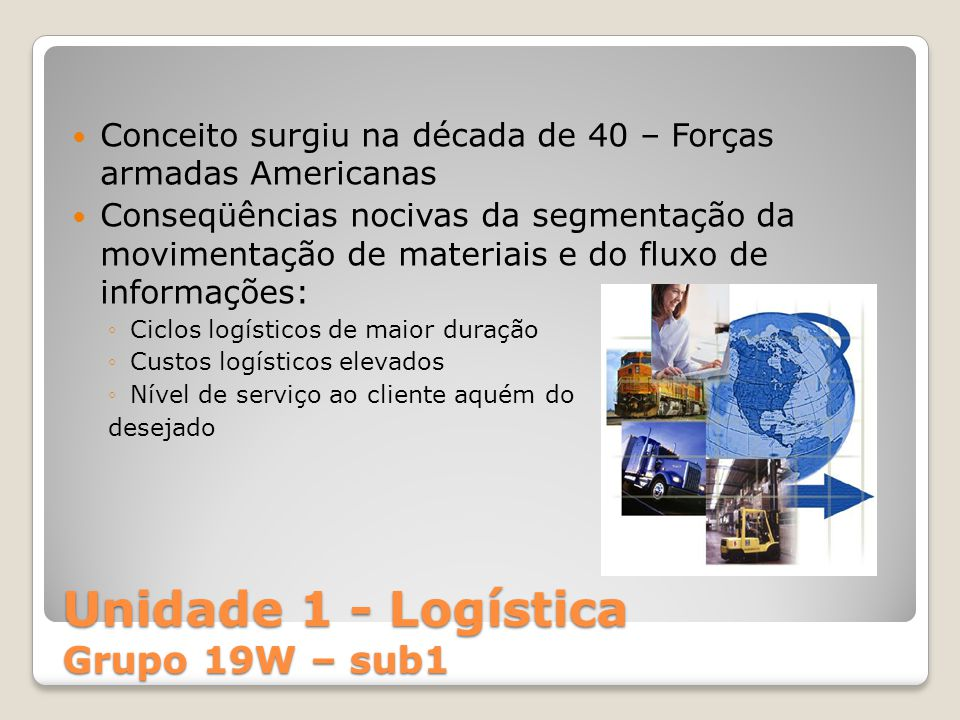 Unidade 1 - Logística Grupo 19W – sub1
