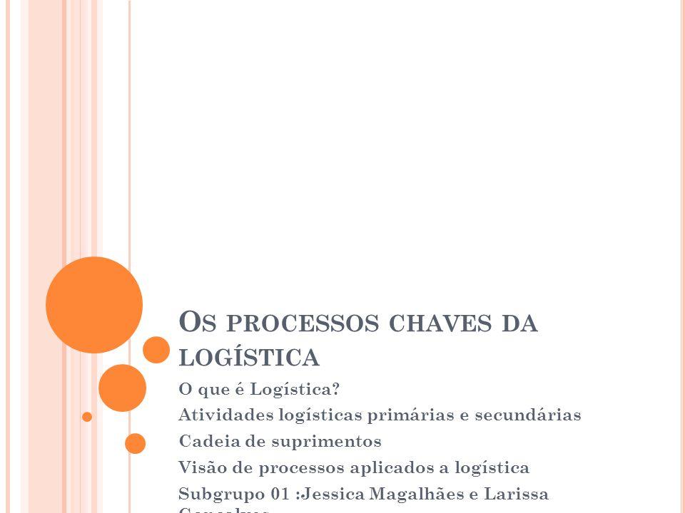 Os processos chaves da logística