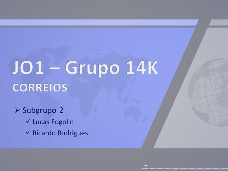Subgrupo 2 Lucas Fogolin Ricardo Rodrigues