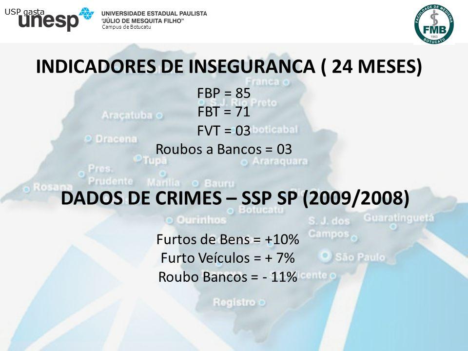 INDICADORES DE INSEGURANCA ( 24 MESES)