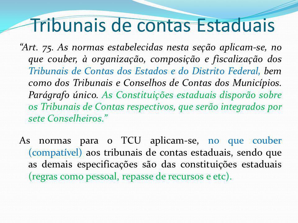 Tribunais de contas Estaduais