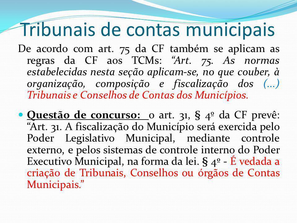 Tribunais de contas municipais