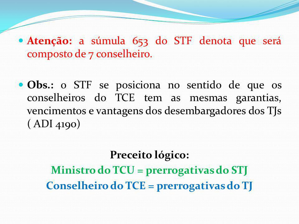 Ministro do TCU = prerrogativas do STJ