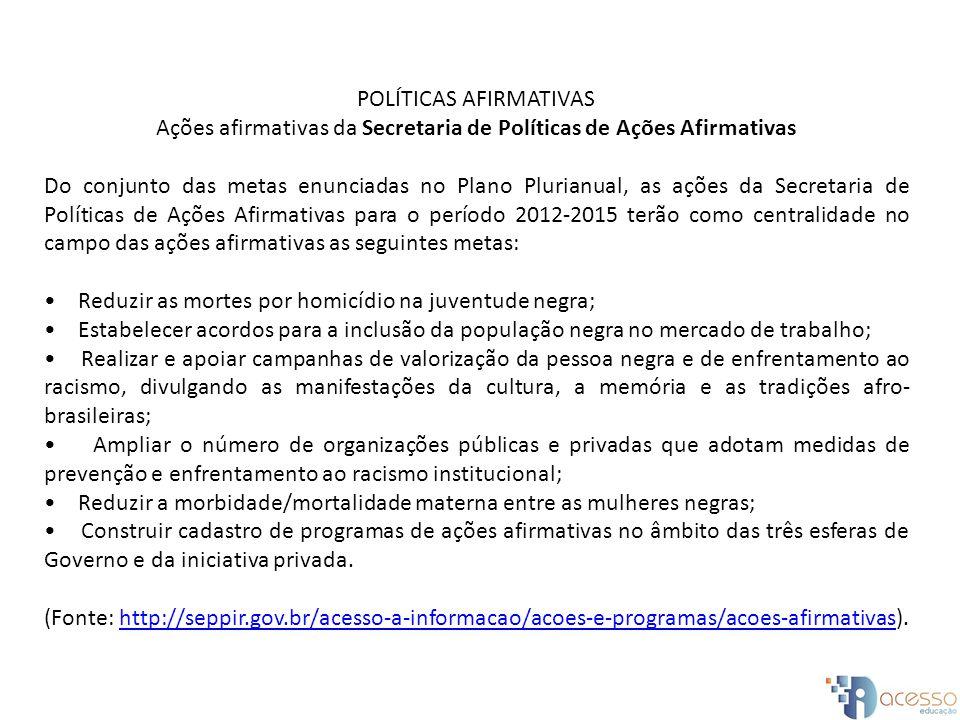 POLÍTICAS AFIRMATIVAS