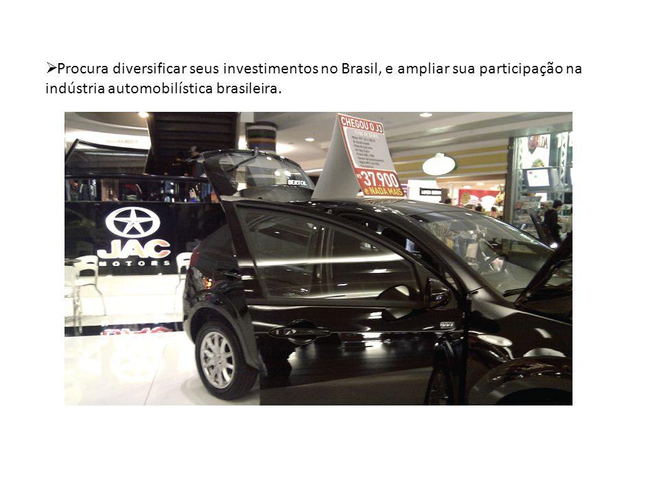 Procura diversificar seus investimentos no Brasil, e ampliar sua participação na indústria automobilística brasileira.