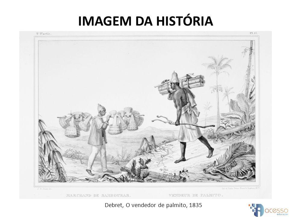 Debret, O vendedor de palmito, 1835