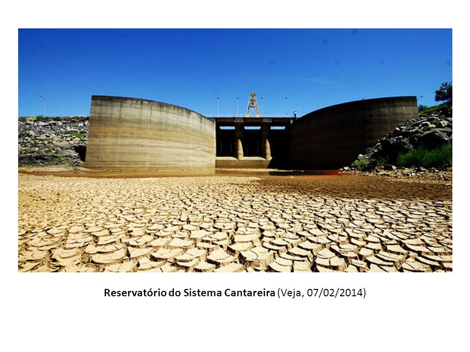 Reservatório do Sistema Cantareira (Veja, 07/02/2014)