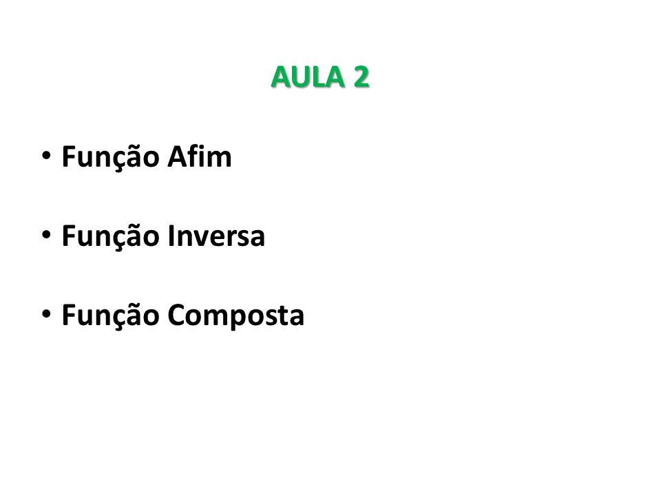 AULA 2 Função Afim Função Inversa Função Composta
