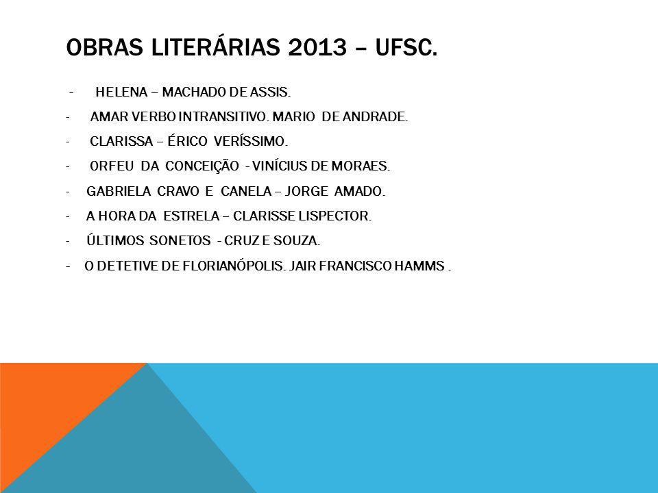 Obras literárias 2013 – UFSC.